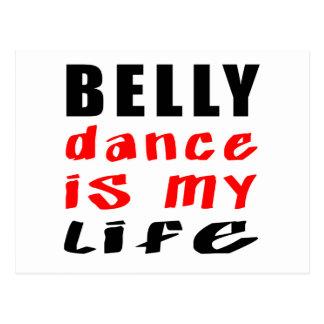 A dança do ventre é minha vida cartao postal