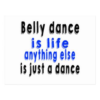 A dança do ventre é vida onde qualquer outra coisa cartao postal