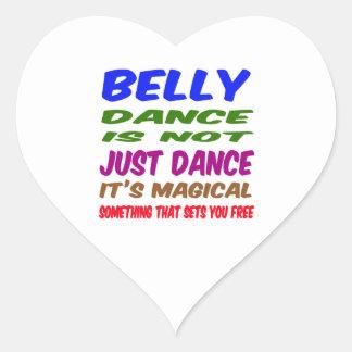 A dança do ventre não é apenas dança que é mágica adesivos de corações