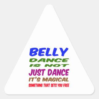 A dança do ventre não é apenas dança que é mágica adesivo triângulo