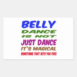 A dança do ventre não é apenas dança que é mágica adesivo retangular