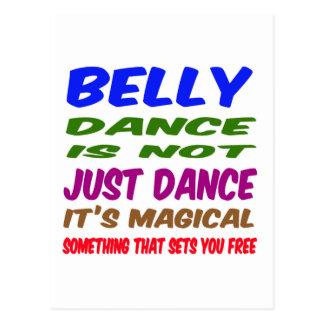 A dança do ventre não é apenas dança que é mágica cartões postais