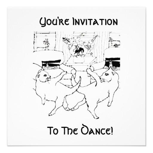 A dança dos gatos convites