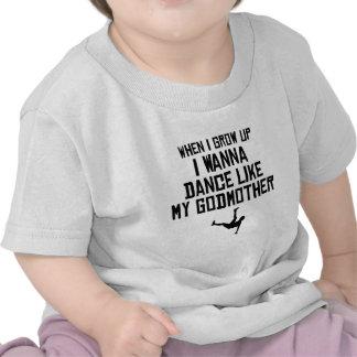 A dança gosta de minha madrinha tshirt