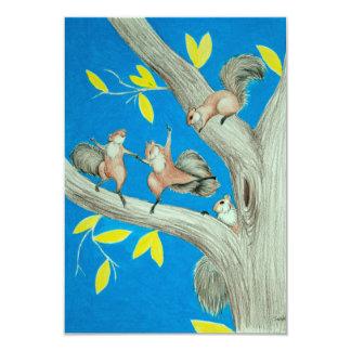 A dança Squirrels o cartão
