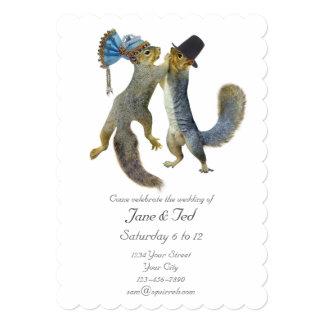 A dança Squirrels o convite do casamento