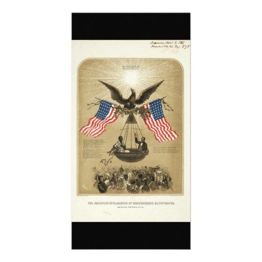 A declaração de independência americana 1861 cartões com fotos personalizados