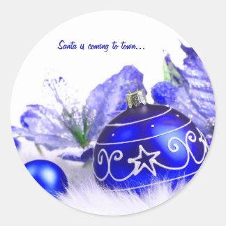 A decoração do Natal personaliza o produto Adesivo Redondo