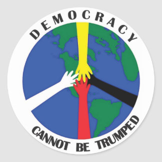 A democracia não pode Trumped - etiqueta
