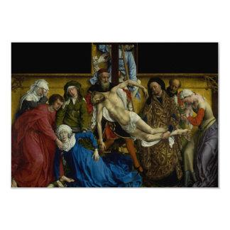 A descida de Rogier van der Weyden transversal Convite Personalizado