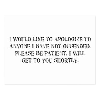 a desculpa