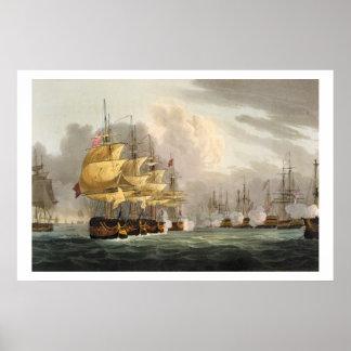 A destruição da frota dinamarquesa antes de Copenh Pôster
