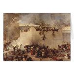 A destruição do templo de Jerusalem Cartão Comemorativo