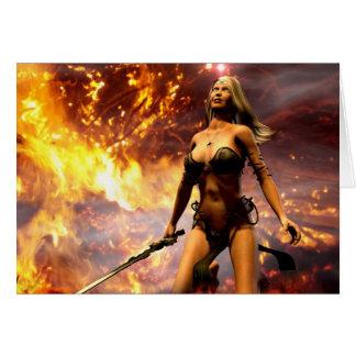 a deusa do fogo cartão comemorativo