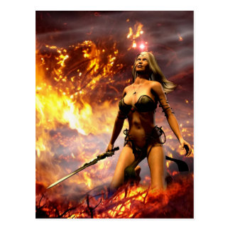 a deusa do fogo cartão postal