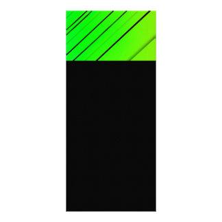 A DIAGONAL 8958 VERDE DE NÉON LISTRA OS FUNDOS 10.16 X 22.86CM PANFLETO