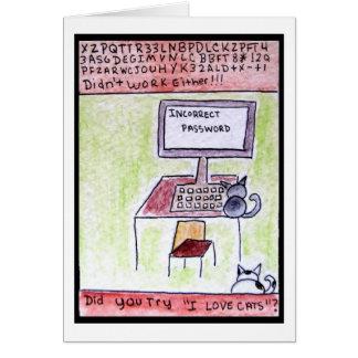 A Dinamarca CatToon #4 - cartão dos cabouqueiros