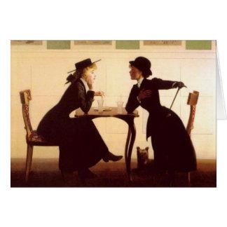 A discussão - cartão da arte