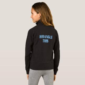A discussão das meninas esta jaqueta da prática de
