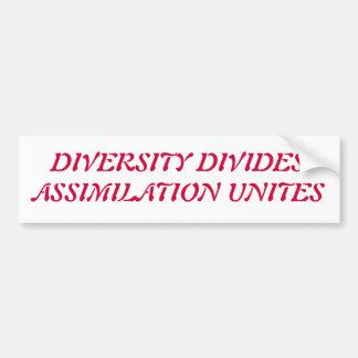 a diversidade suga adesivo para carro