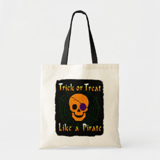 A doçura ou travessura gosta de um pirata bolsa tote