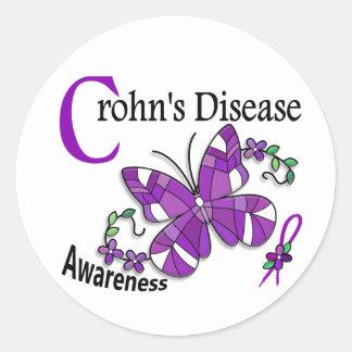 A doença de Crohn da borboleta 2 do vitral Adesivo