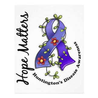 A doença de Huntington das matérias da esperança d Modelo De Panfleto