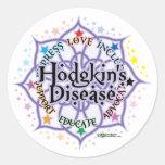A doença Lotus de Hodgkin Adesivos Em Formato Redondos