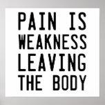 A dor é fraqueza que sae do corpo