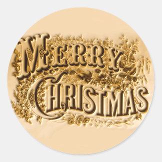 A e Feliz Natal Adesivo Redondo