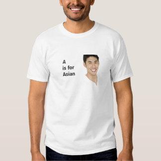 A é para o asiático t-shirt