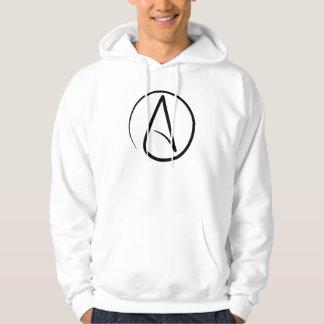 A é para o Hoodie do ateísmo Moletom Com Capuz
