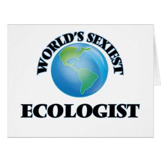 """A ecologista a mais """"sexy"""" do mundo cartao"""