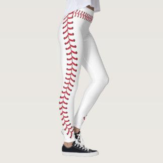 A emenda da bola do basebol costura o teste padrão leggings