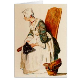 A empregada doméstica da cozinha: Após Chardin: Cartão Comemorativo