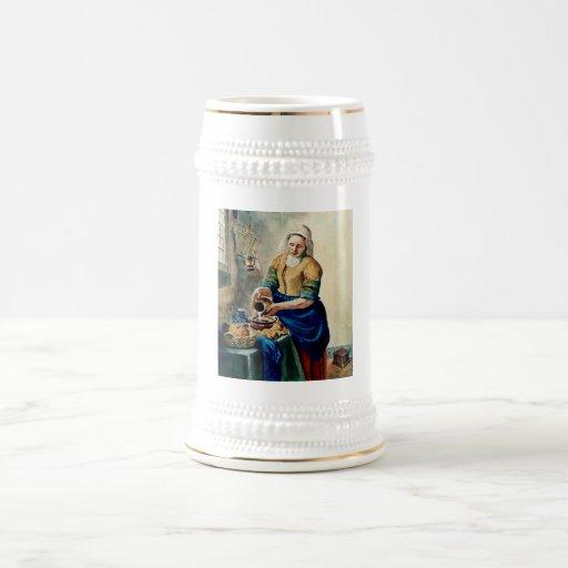 """""""A empregada doméstica da cozinha"""", após Vermeer,  Caneca"""