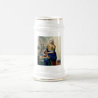 """""""A empregada doméstica da cozinha"""", após Vermeer, Caneca De Chopp"""