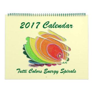 A energia colorida 2017 calendários espirala a