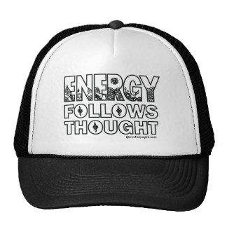 A energia segue o boné do pensamento