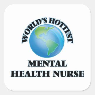A enfermeira de saúde mental a mais quente do adesivo quadrado