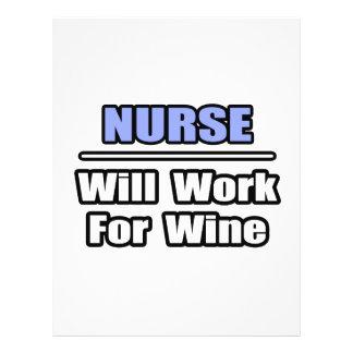 A enfermeira… trabalhará para o vinho panfletos personalizado