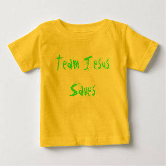 A equipe Jesus salvar Camiseta Para Bebê