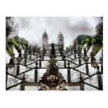 A escadaria barroco de Bom Jesus em Braga Cartão Postal
