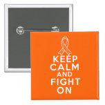 A esclerose múltipla mantem a calma e luta-a sobre pins