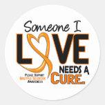 A esclerose múltipla PRECISA uma CURA 2 Adesivos Redondos