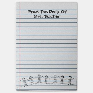 A escola bonito caçoa post-it do professor post-it notes