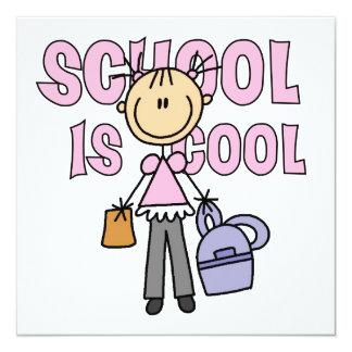 A escola da menina é legal convite personalizados