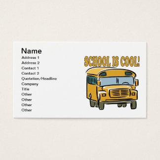 A escola é legal cartão de visitas