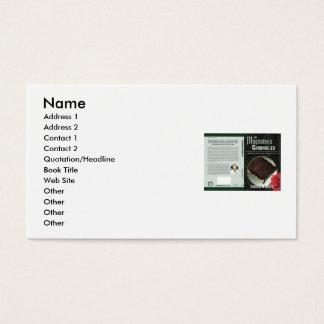 A escolha do autor cartão de visitas