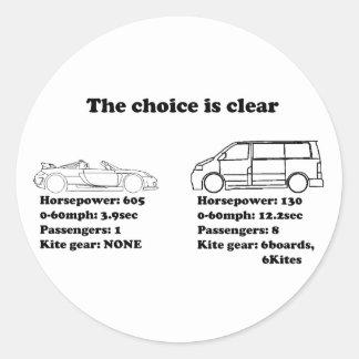 a escolha é clara adesivo redondo